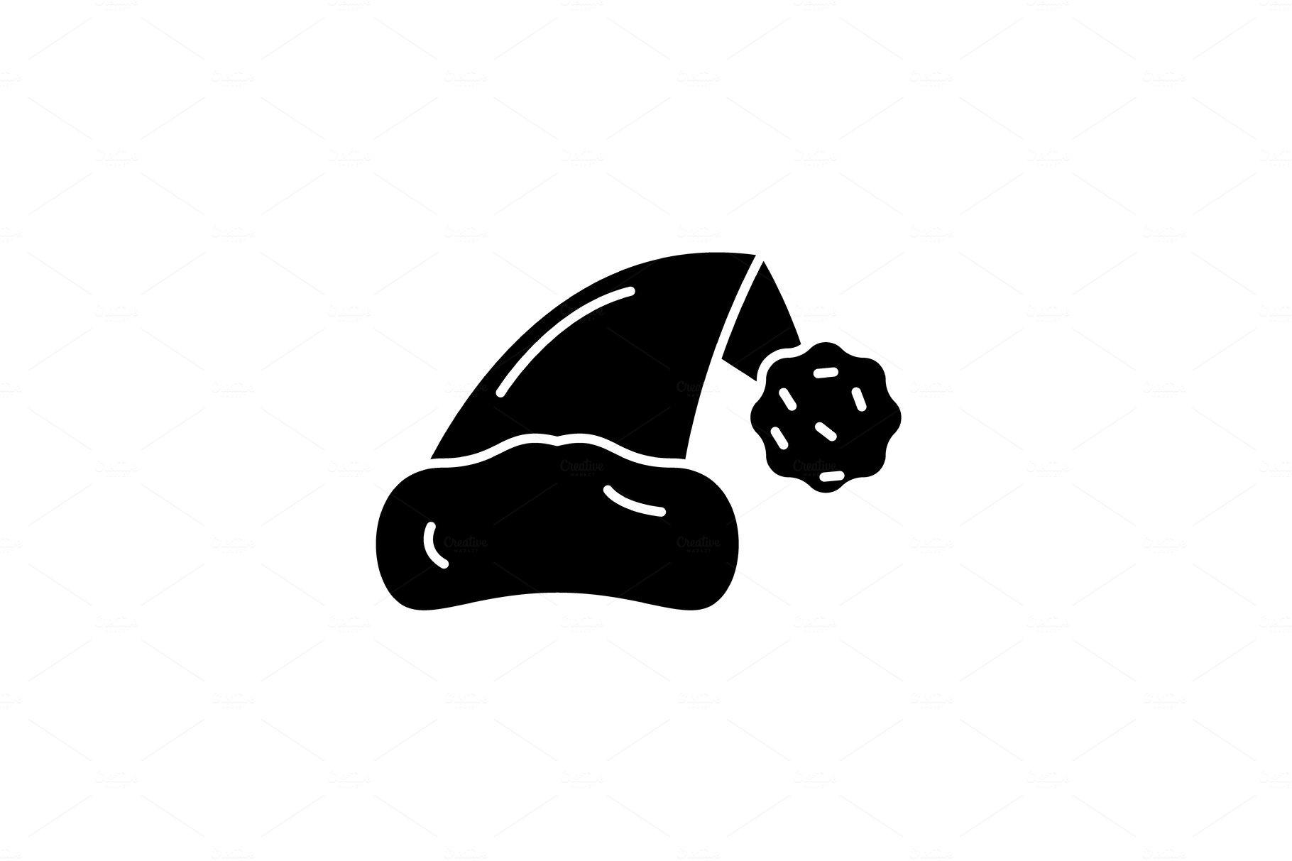 a7df601e91e9e Santa claus hat black icon
