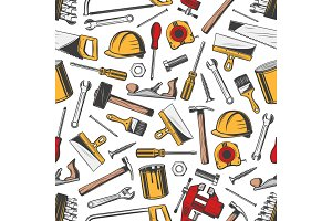 Repair, construction tools pattern