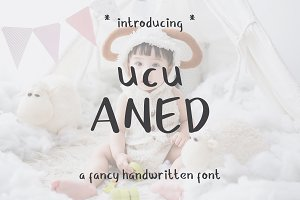 Ucu Aned a Fancy Handwriting Font