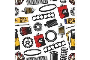 Car spare parts and tools pattern