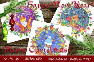 Christmas round cards