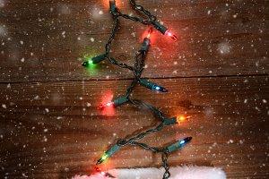 Christmas Stocking and Lights