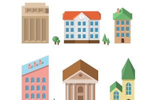 Buildings. Vector houses