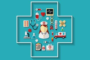Health care and medicine icons