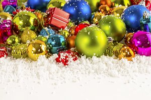 Christmas multicolored background