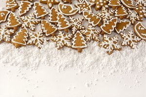 Gingerbread on the white background