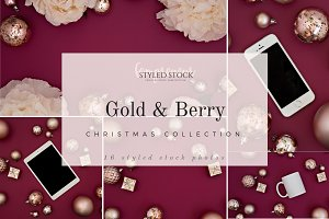 Gold and Berry Christmas Collection