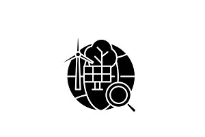 Alternative energy black icon