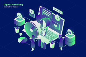 Marketing Online-Vector Illustration
