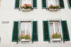 Swiss Windows with blinds