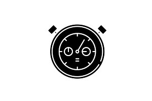 Working date black icon, vector sign