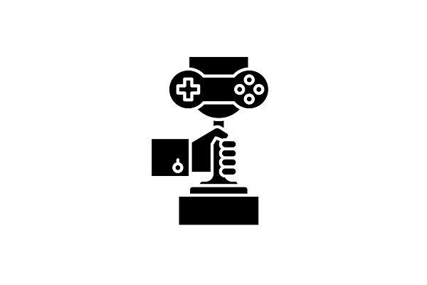Computer games championship black