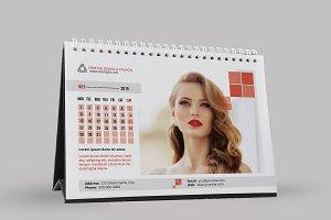 Desk Calendar Template 2019 - V10