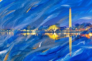 Acrylic Waves of Washington DC