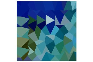 Blue Pigment Abstract Low Polygon Ba