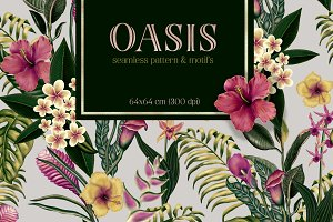 Oasis pattern and elements set