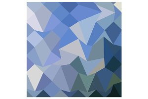 Carolina Blue Abstract Low Polygon B
