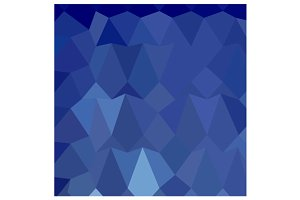 Catalina Blue Abstract Low Polygon B