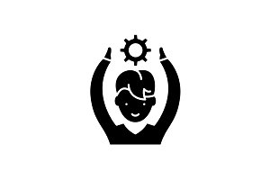Employee potential black icon