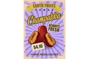 Champakka exotic tropical fruit