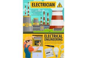 Energetics industry, electrician