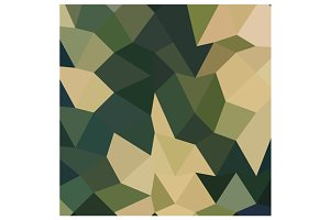 Dark Olive Green Abstract Low Polygo