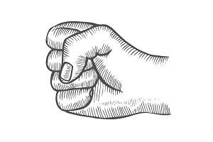 Hand gesture Fist.