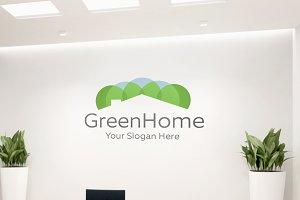 Modern Green Home Logo