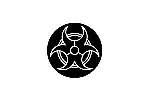 Gear wheel of the future black icon