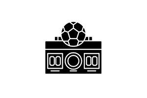 Football score black icon, vector