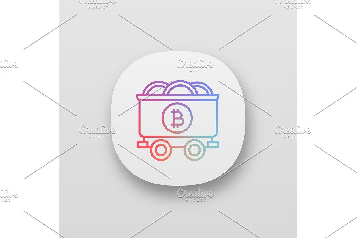 Bitcoin mining business app icon