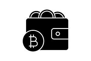Bitcoin wallet glyph icon