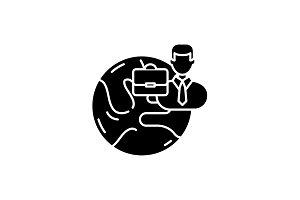 International business black icon