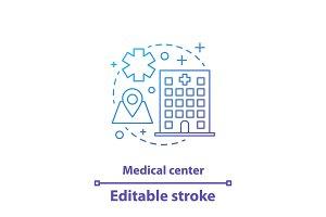 Medical center concept icon