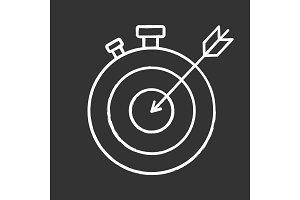 Smart goal chalk icon