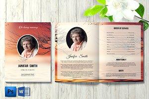 Funeral Program Template - V844