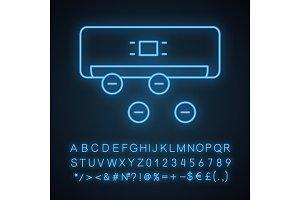 Air ionizer neon light icon