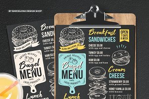 Bagel Sandwich Menu Template