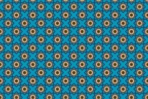 Oriental blue pattern