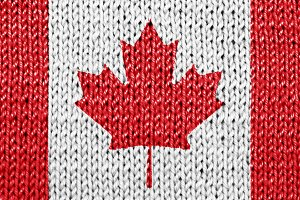 Knit Canadian national flag