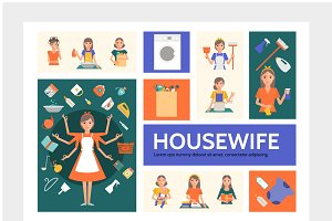 Housewife infographic template