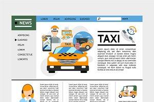 Taxi service website concept