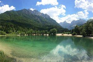 Lake panorama in mountains