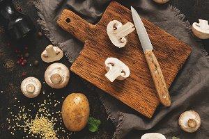 Ingredients for cooking mushroom