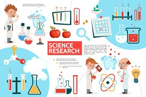 Flat science infographic template