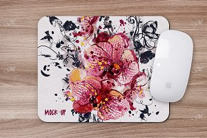 Mouse Pad Mock-up. PSD Smart Object