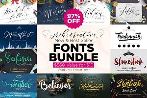 SALE 97% Off ! All Shop Font Bundle
