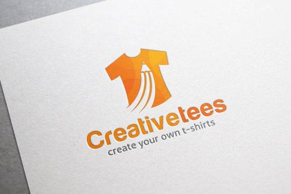 Creative t shirt logo logo templates creative market for Free t shirt logos