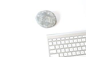 Be Still Desk - Stock Photo