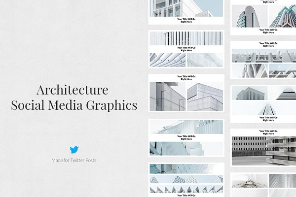 Twitter Templates: Social Corner Graphics - Architecture Twitter Posts